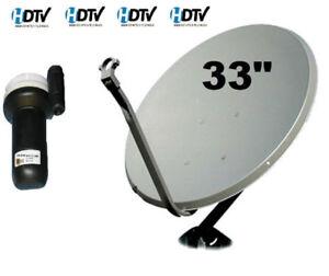 "Satellite Dish 33"" Galaxy 19 LNB LNBF FTA 97 West Arab Europe TV"