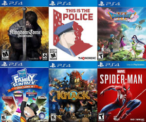 Selling/Trading PS4 Kingdom Come, Dragon Quest, Spiderman, more