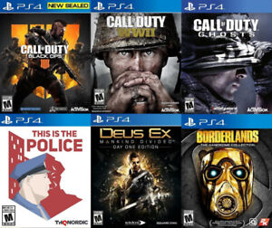 Selling/Trading PS4 Black Ops 4, COD WW2, Deus Ex, more