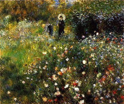 IMPRESSIONISMUS AUGUSTE RENOIR Frau mit Sonnenschirm im Garten 1875 Faksimile 50