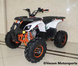 New 125cc Venom Grizzly ATV Fully Automatic + Reverse + BIG TIRE