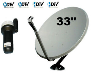 "Satellite Dish 33"" Galaxy 19 LNB LNBF FTA 97 West Arab Europe TV"