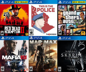 Selling/Trading PS4 Red Dead, GTA 5, Police, Mafia, Skyrim, more