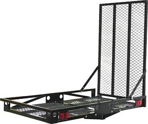 Hitch mounted carrier with ramp