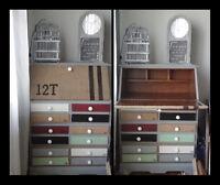 Secrétaire style meuble d'apothicaire