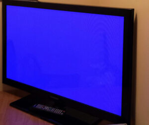 "43"" SAMSUNG PLASMA TV. HAS 2 HDMI, 1 USB PORT & THE BASICS. $200"