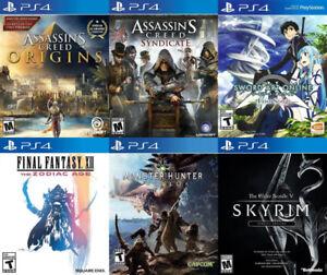 Selling/Trading PS4 Monster, Assassins, Sword Art, Skyrim, more