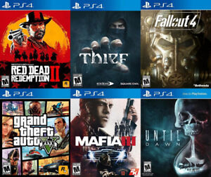 Selling/Trading PS4 Red Dead 2, GTA 5, Thief, more + FREE GAME