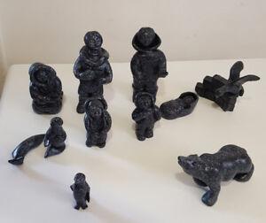 Crèche inuit en céramique