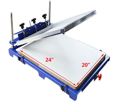 1 Color Screen Printing Machine With 20 X 24 Oversize Pallet Xxxl Shirt Press