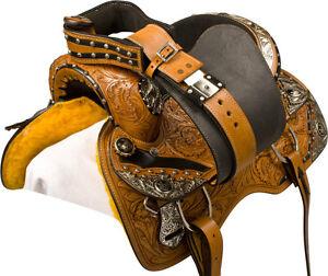 "16"" Leather Western Saddle + Tack Quarter Horse Silver Show New London Ontario image 8"