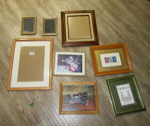 Lot of large various photo vintage and modern picture frames