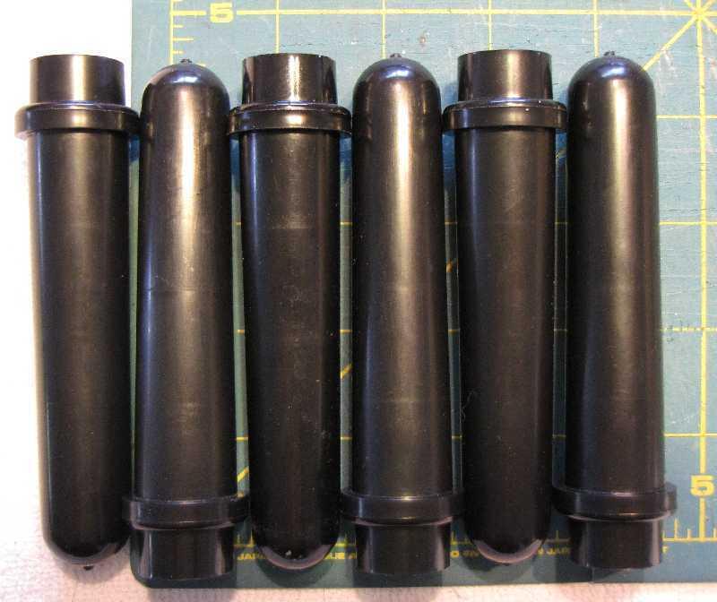 Drucker 614 642 centrifuge tubes shields black 17x125mm set of 6 part# 7713032