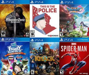 Selling/Trading PS4 Kingdom Come, Dragon Quest, Spiderman, more