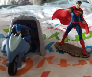 Superman & Batman Figurines- $10