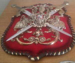 Knights shield plaque $15