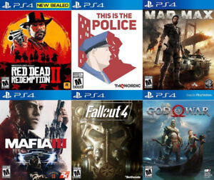 Selling/Trading PS4 Red Dead, Police, Mafia, Fallout, GOW, more
