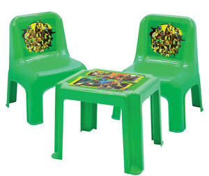 NinjaTurtle Funtime table set & Fisher Price Rock Roll Tricycle