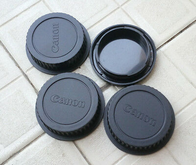 3 x Rear Lens Cap +1x Front Body Cap/lot For Canon EOS EFS EF EF-S mount EF