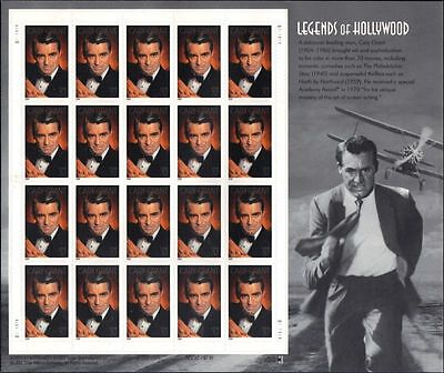 RJAMES: US 3692 CARY GRANT LEGENDS OF HOLLYWOOD SOUVENIR SHEET, MNH, VF