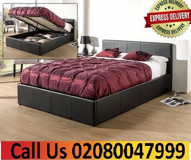 Phenomenal Cheap Price Double Leather Ottoman Storage Bed Frame In Black Brown Colors In Lewisham London Gumtree Creativecarmelina Interior Chair Design Creativecarmelinacom