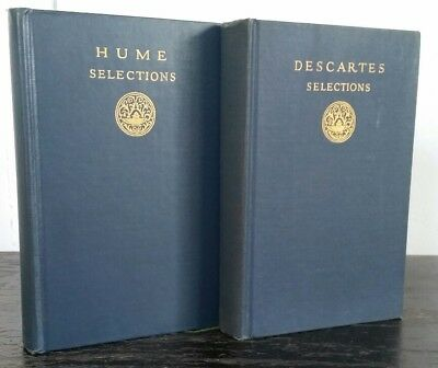 Set of 2 Modern Student's Library Philosophy Books: Descartes & Hume 1927
