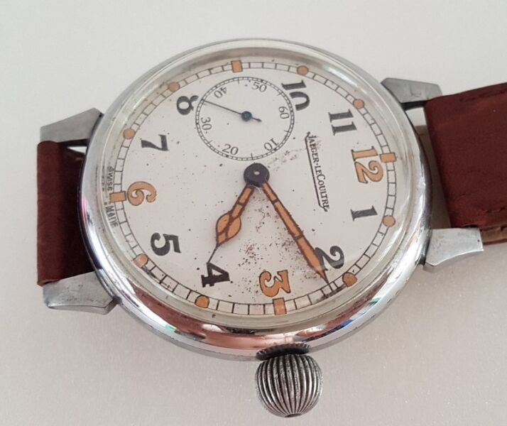 Jaeger LeCoultre manual wind watch, Swiss, World War One Trench Watch, Military Grade, Calibre 467/2