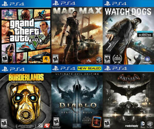 Selling/Trading PS4 GTA 5, Diablo 3, Batman Arkham, more