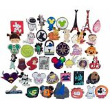 Disney Pin Trading Lot of 50 Assorted Pins - Brand NEW - No Doubles - Tradable