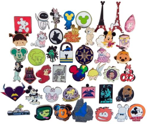 Купить Disney Pin Trading Lot of 50 Assorted Pins - Brand NEW - No Doubles - Tradable