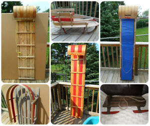Vintage Wooden Sleds / Toboggans / Sleighs for Kids & Decor