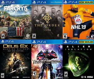 Selling/Trading PS4 Farcry, NHL 19, Transformers, Alien, more