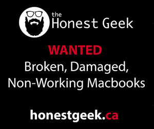 Wanted: Broken, Damaged, or Non-Working Macbooks