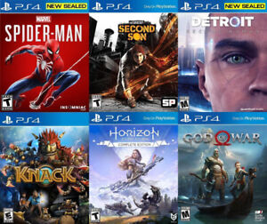 Selling/Trading PS4 Spiderman, Infamous, Horizon, God War, more