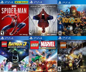 Selling/Trading PS4 Spiderman, Knack, Lego, Monster Hunter, more