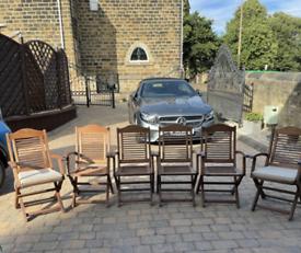 Teak Hardwood Chairs Set of Six £25.00 each