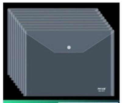 10pcs A4 Thicken Transparent File Holder Document Bag Holder Organizer Clear