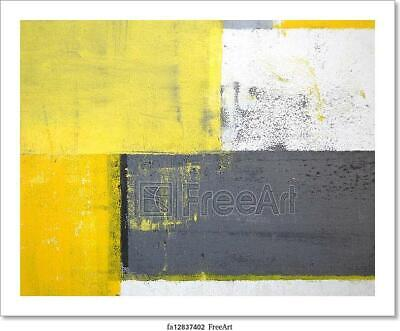Grey And Yellow Abstract Art Art/Canvas Print. Poster, Wall Art, Home Decor