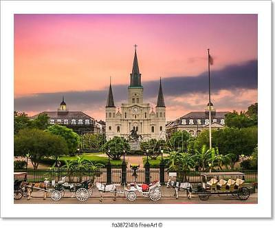 New Orleans Decor (Jackson Square New Orleans Art Print Home Decor Wall Art Poster -)