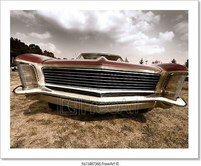 Muscle Car Decor (Front End Of Old Muscle Car Art Print Home Decor Wall Art)