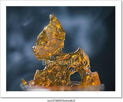 Piece Of Cannabis Oil Concentrate Aka Art Print Home Decor Wall Art Poster ()