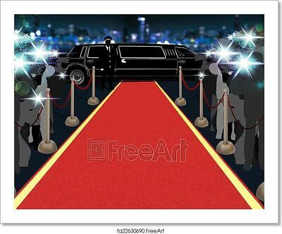 Red Carpet, Photographers, Driver And Art Print Home Decor Wall Art Poster -