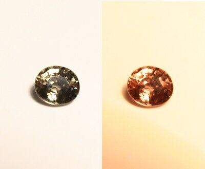 0.55ct Colour Change Garnet - Custom Cut Gem with Rare Superb Colour Change