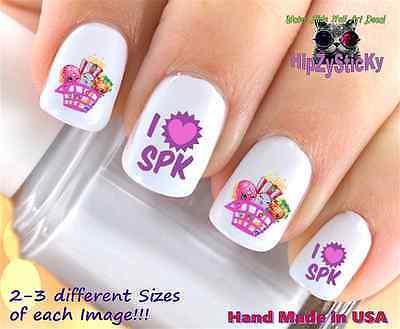 Shopkins Season 2 Pink SPK KID Set + Bonus WaterSlide Decals