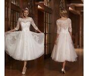 Size 10 A-Line Half Sleeve Wedding Dress NEW