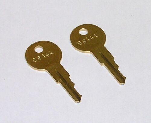 2 - B644A Replacement Brass Keys for Audio PA Rack Mount Rear Door