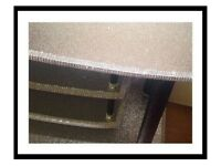 LOCAL DELIVERY Bling TV Television Unit Stand Table Silver Black Glitter Sparkle