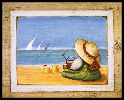Sean Aherne Beside the Seaside V Poster Bild Kunstdruck im Alu Rahmen 40x50cm
