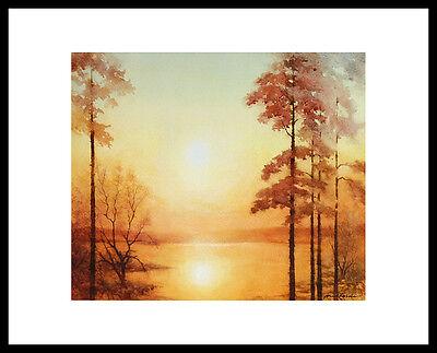 Kurt Ettischer Verglühender Tag Poster Bild Kunstdruck im Alu Rahmen 40x50cm