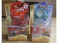 Disney infinity crystal Lightning McQueen and Sully Rare Figures